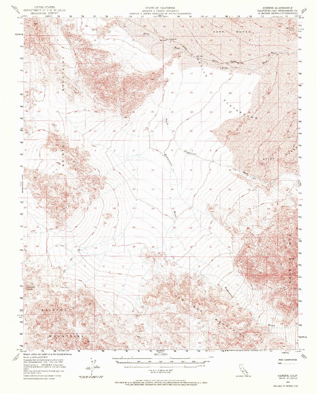 USGS 1:62500-SCALE QUADRANGLE FOR KERENS, CA 1957