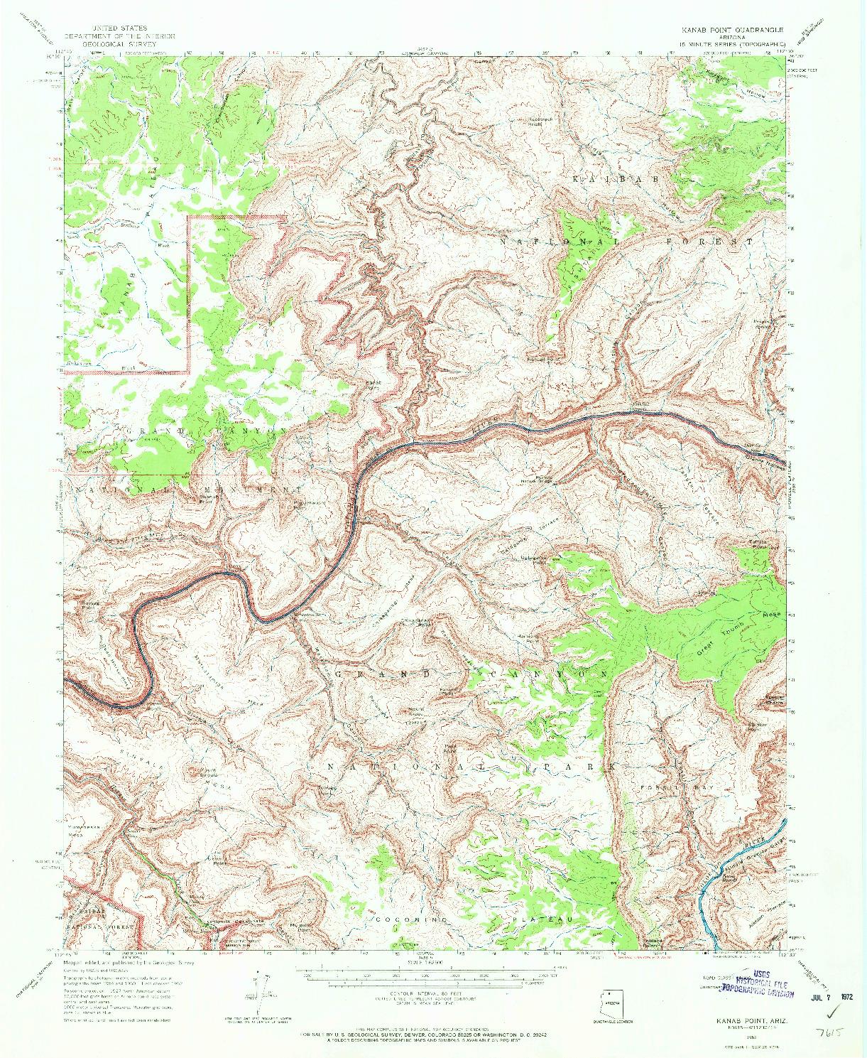 USGS 1:62500-SCALE QUADRANGLE FOR KANAB POINT, AZ 1962