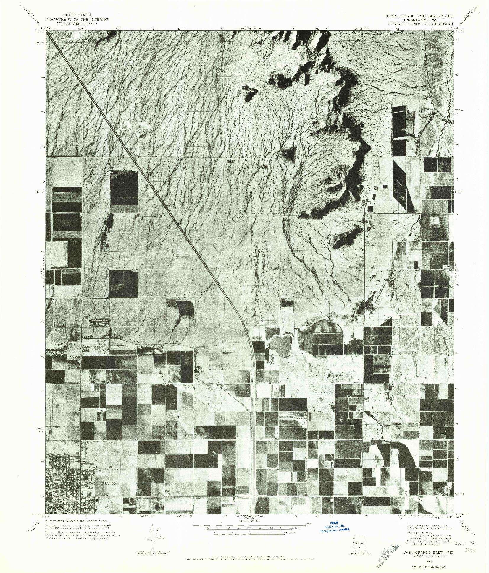 USGS 1:24000-SCALE QUADRANGLE FOR CASA GRANDE EAST, AZ 1971