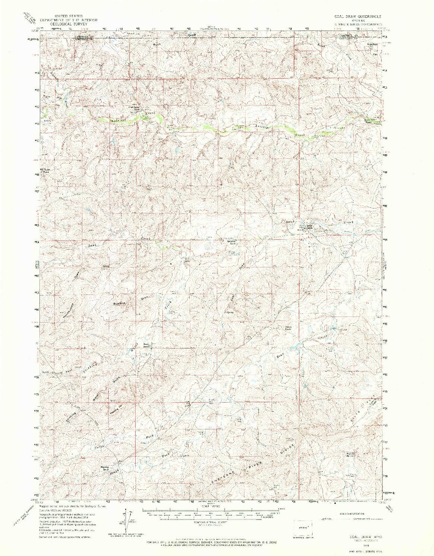 USGS 1:62500-SCALE QUADRANGLE FOR COAL DRAW, WY 1959