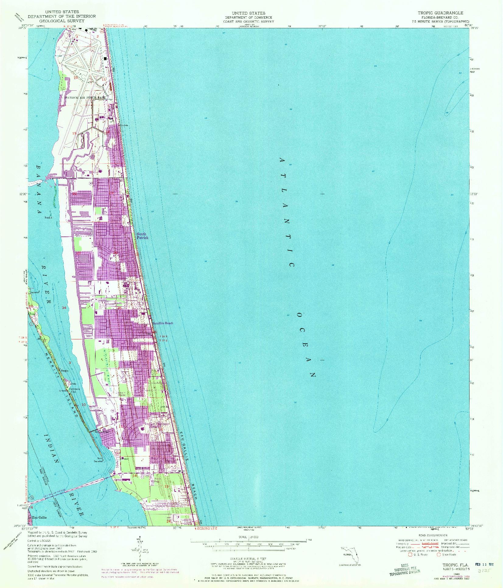 USGS 1:24000-SCALE QUADRANGLE FOR TROPIC, FL 1949