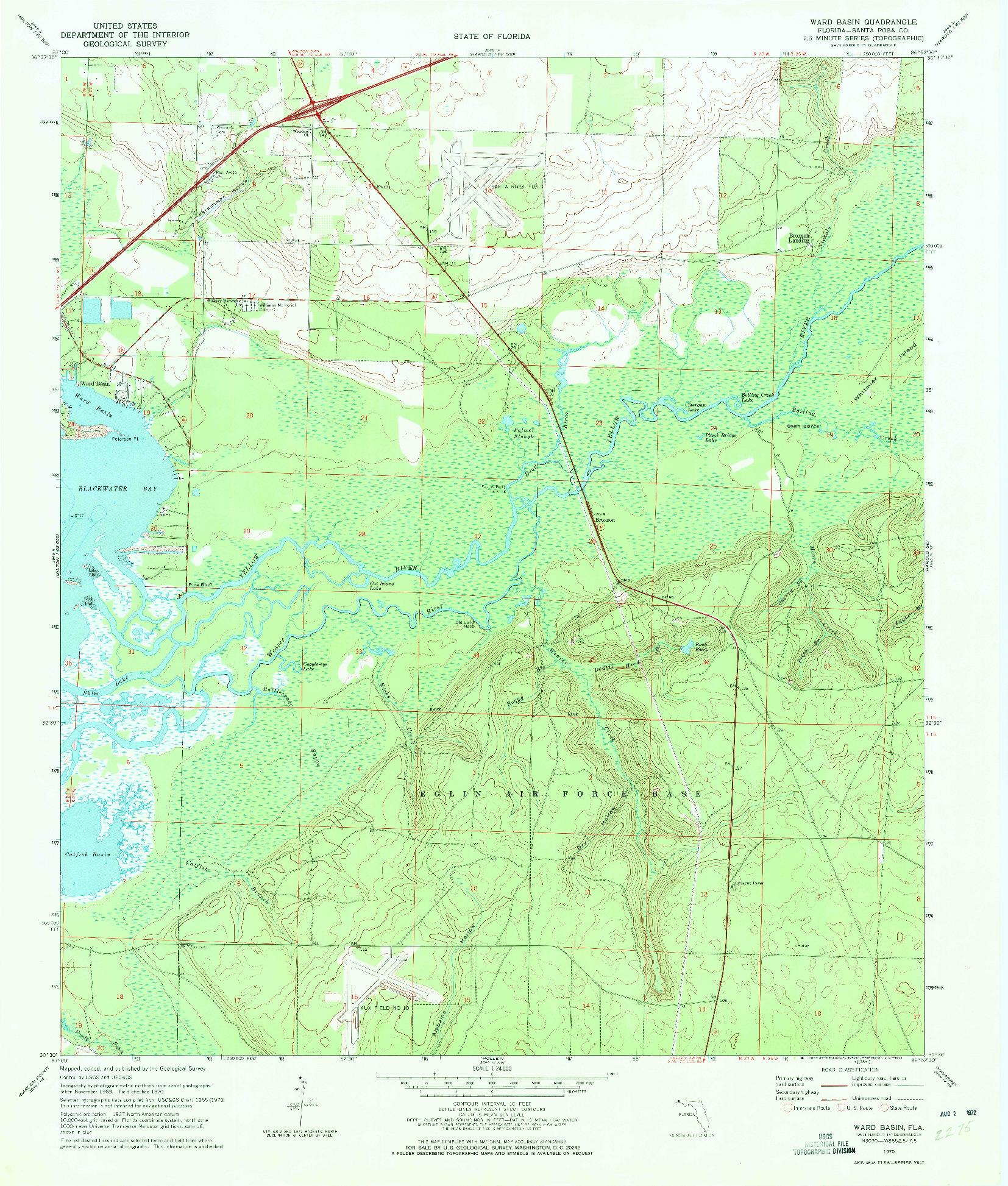 USGS 1:24000-SCALE QUADRANGLE FOR WARD BASIN, FL 1970