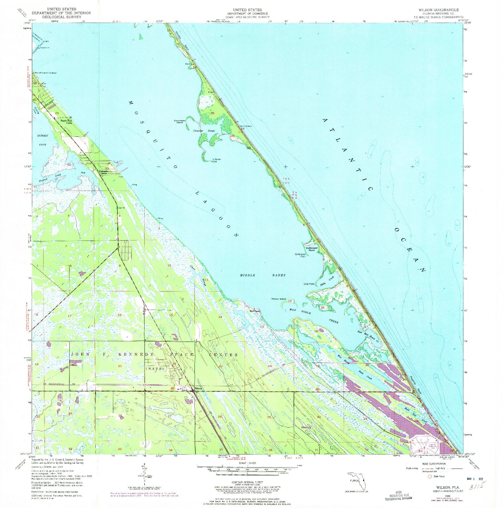 USGS 1:24000-SCALE QUADRANGLE FOR WILSON, FL 1949