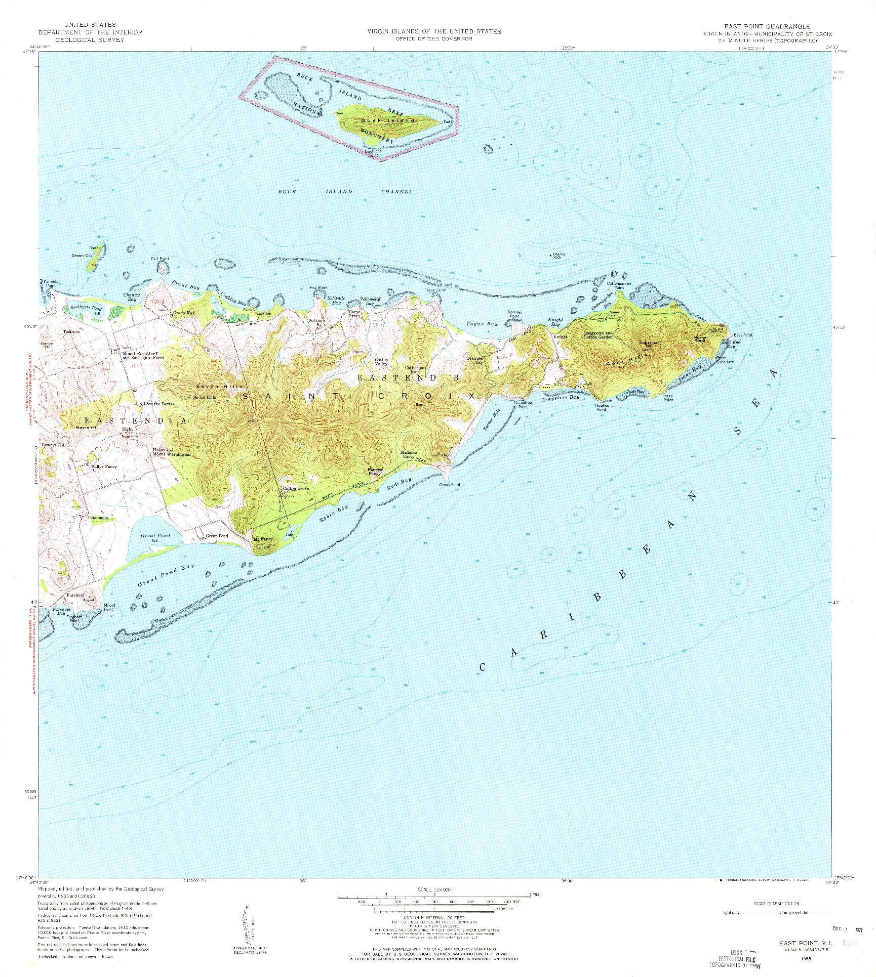 USGS 1:24000-SCALE QUADRANGLE FOR EAST POINT, VI 1958