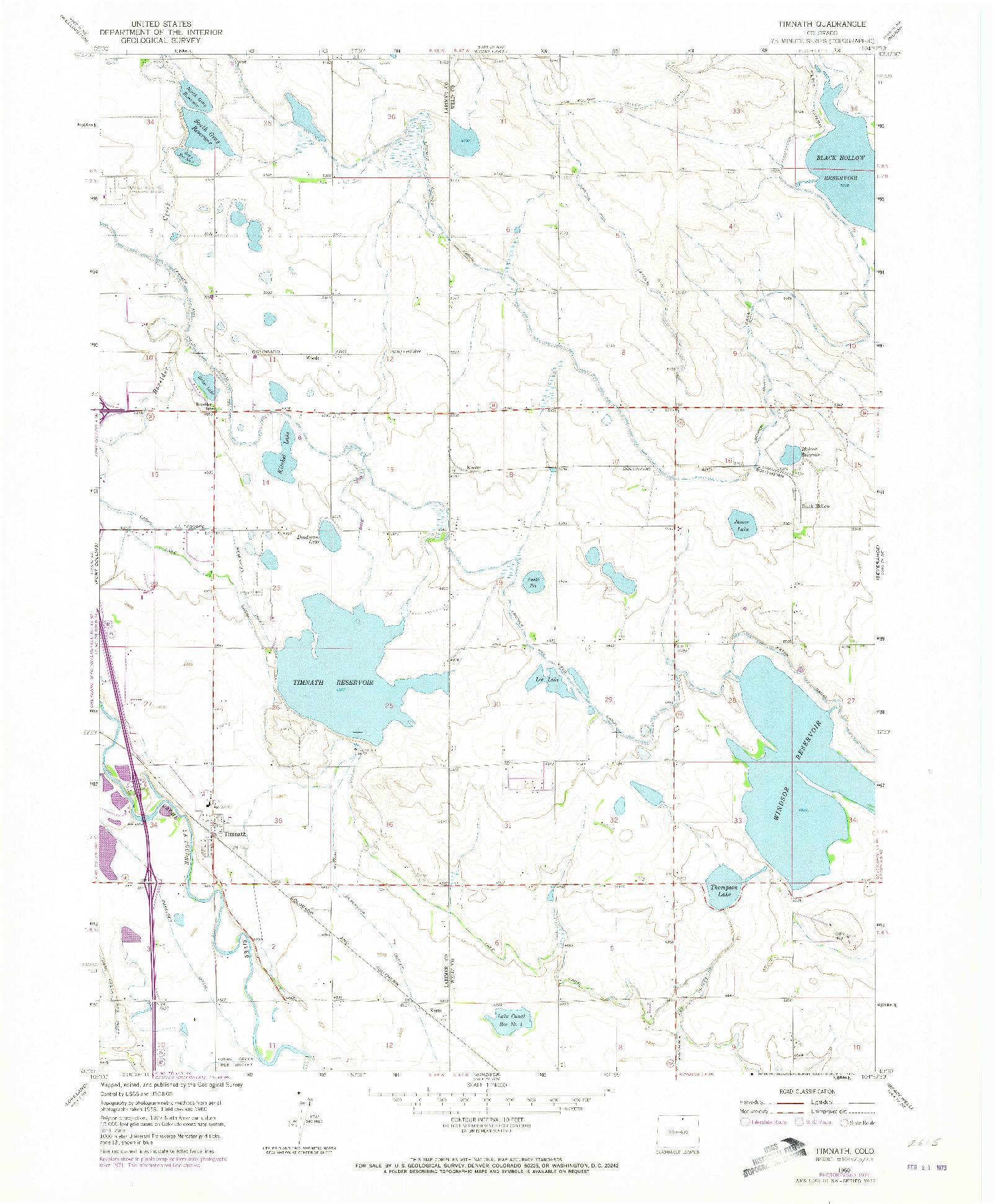 USGS 1:24000-SCALE QUADRANGLE FOR TIMNATH, CO 1960