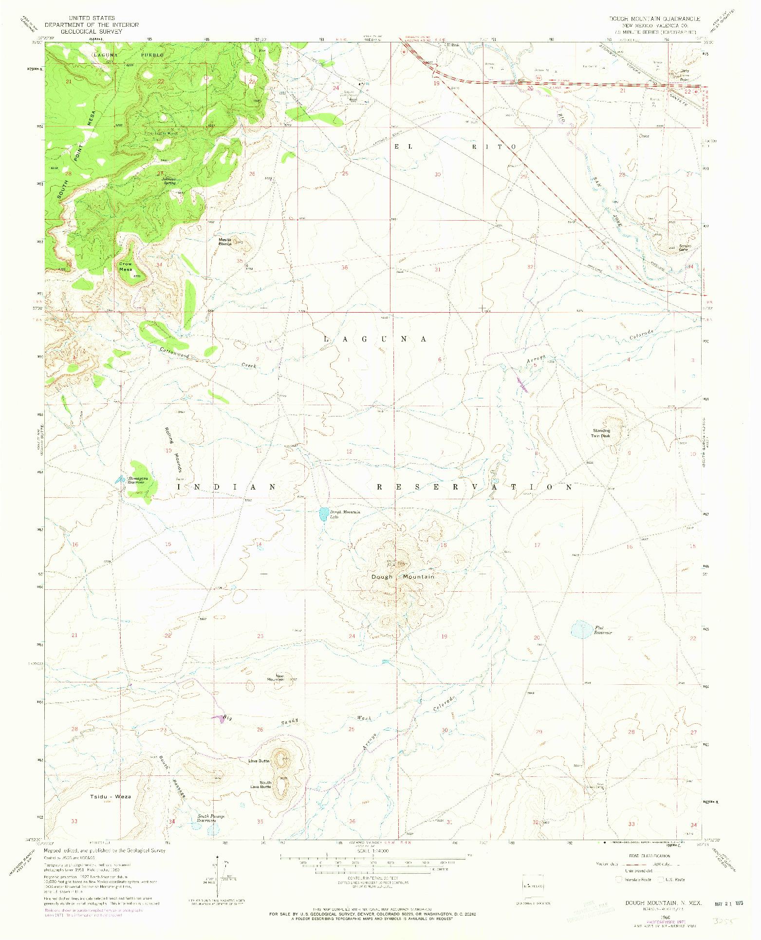 USGS 1:24000-SCALE QUADRANGLE FOR DOUGH MOUNTAIN, NM 1960