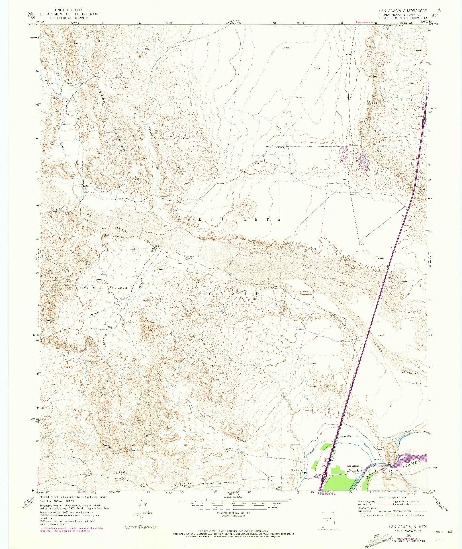 USGS 1:24000-SCALE QUADRANGLE FOR SAN ANACIA, NM 1952