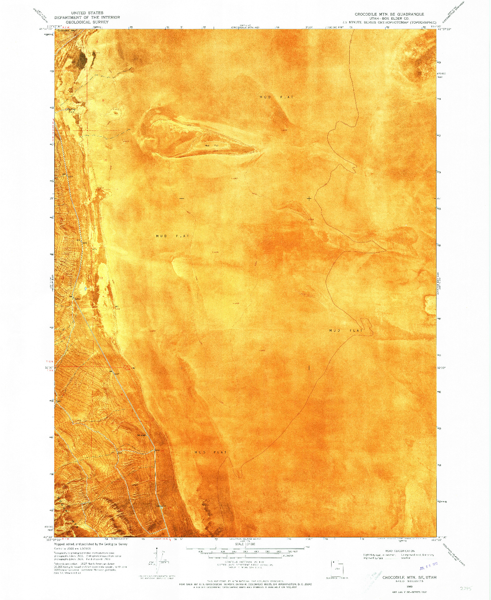 USGS 1:24000-SCALE QUADRANGLE FOR CROCODILE MTN SE, UT 1969