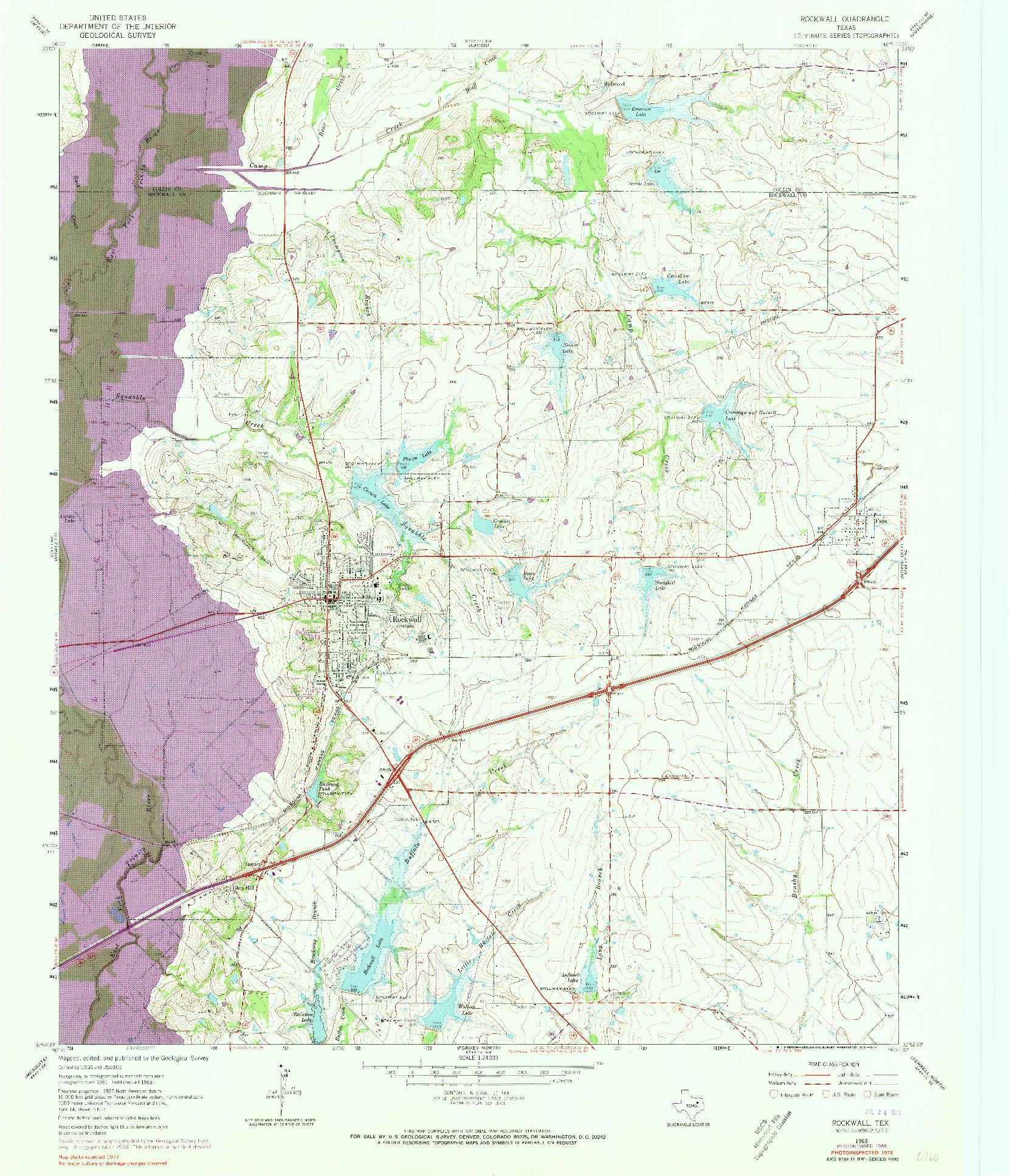 USGS 1:24000-SCALE QUADRANGLE FOR ROCKWALL, TX 1963