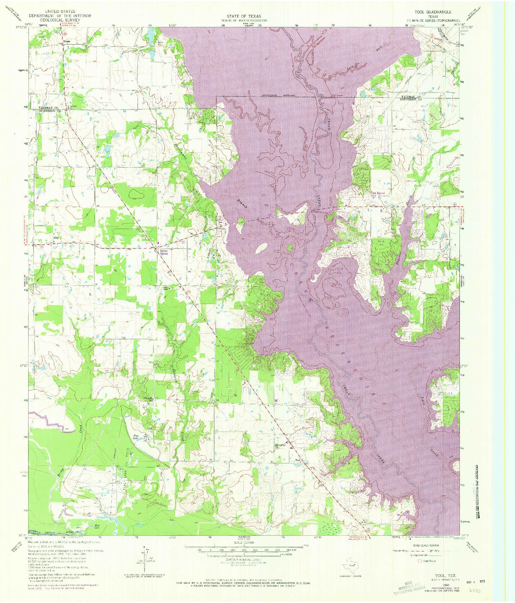 USGS 1:24000-SCALE QUADRANGLE FOR TOOL, TX 1960