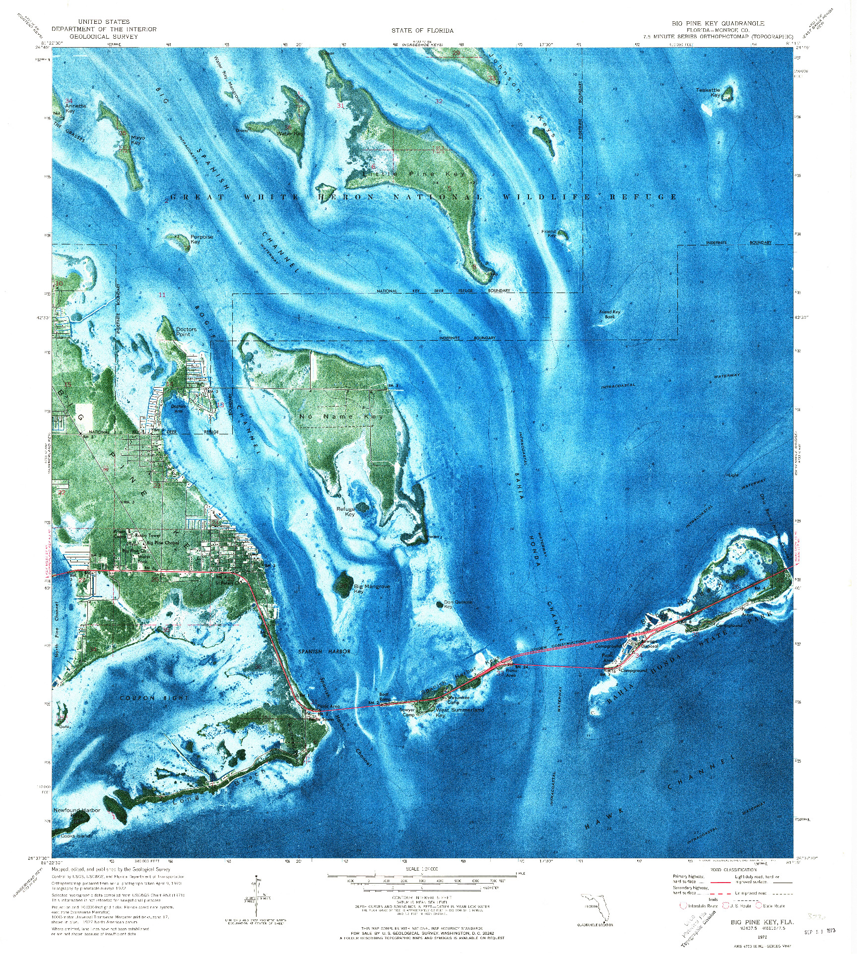 USGS 1:24000-SCALE QUADRANGLE FOR BIG PINE KEY, FL 1972