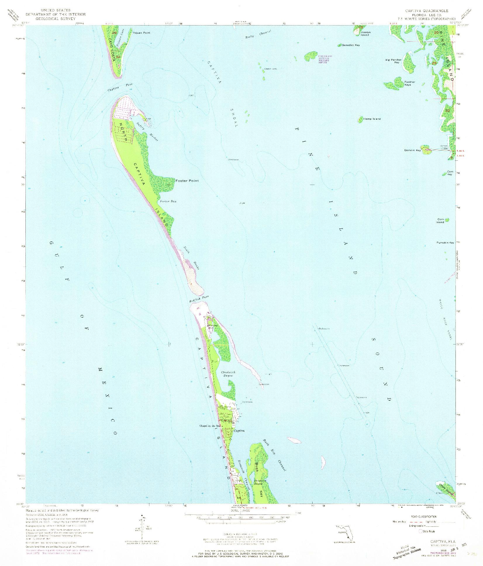 USGS 1:24000-SCALE QUADRANGLE FOR CAPTIVA, FL 1958