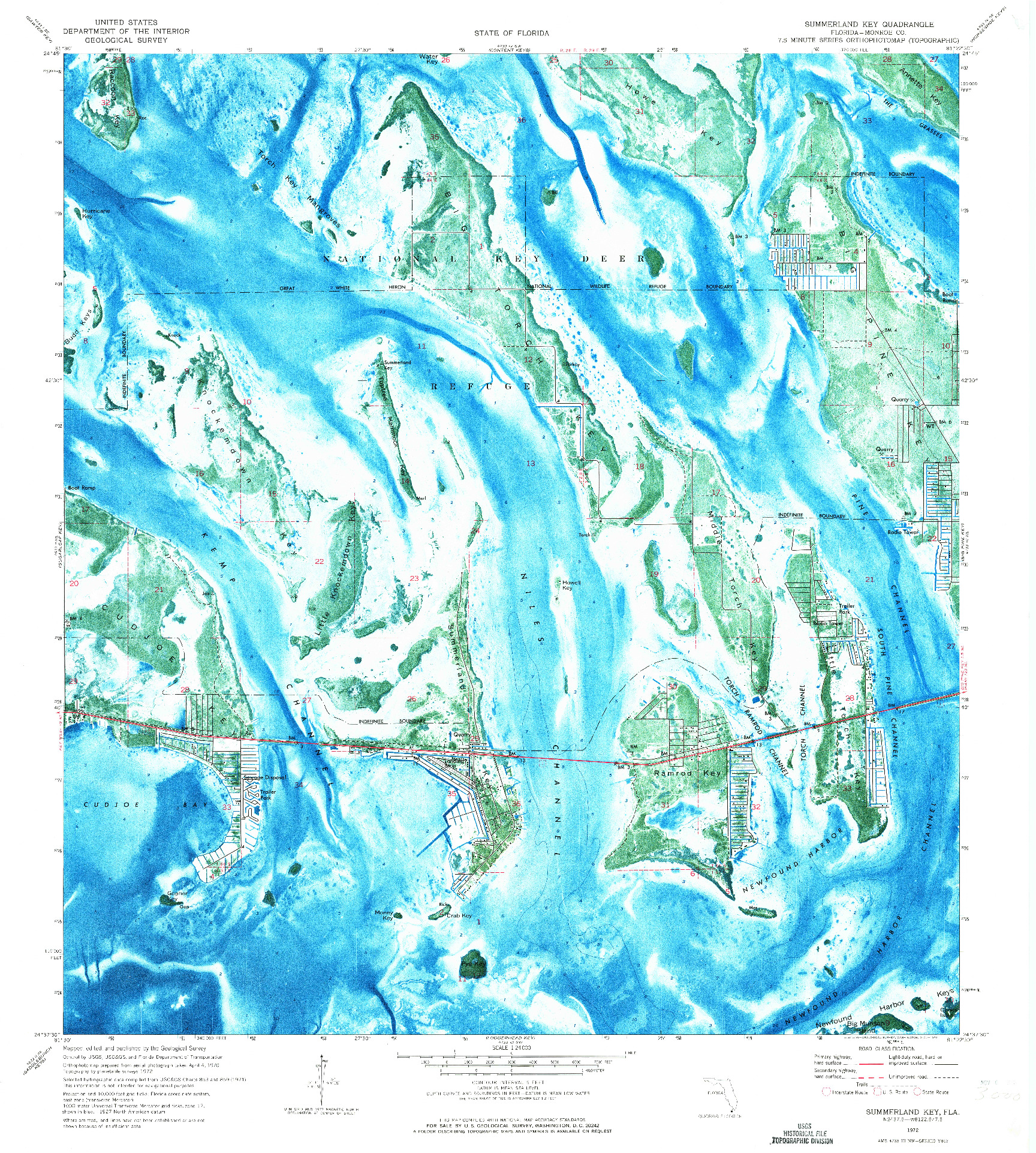 USGS 1:24000-SCALE QUADRANGLE FOR SUMMERLAND KEY, FL 1972