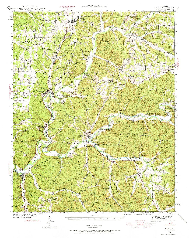 USGS 1:62500-SCALE QUADRANGLE FOR NOEL, MO 1940