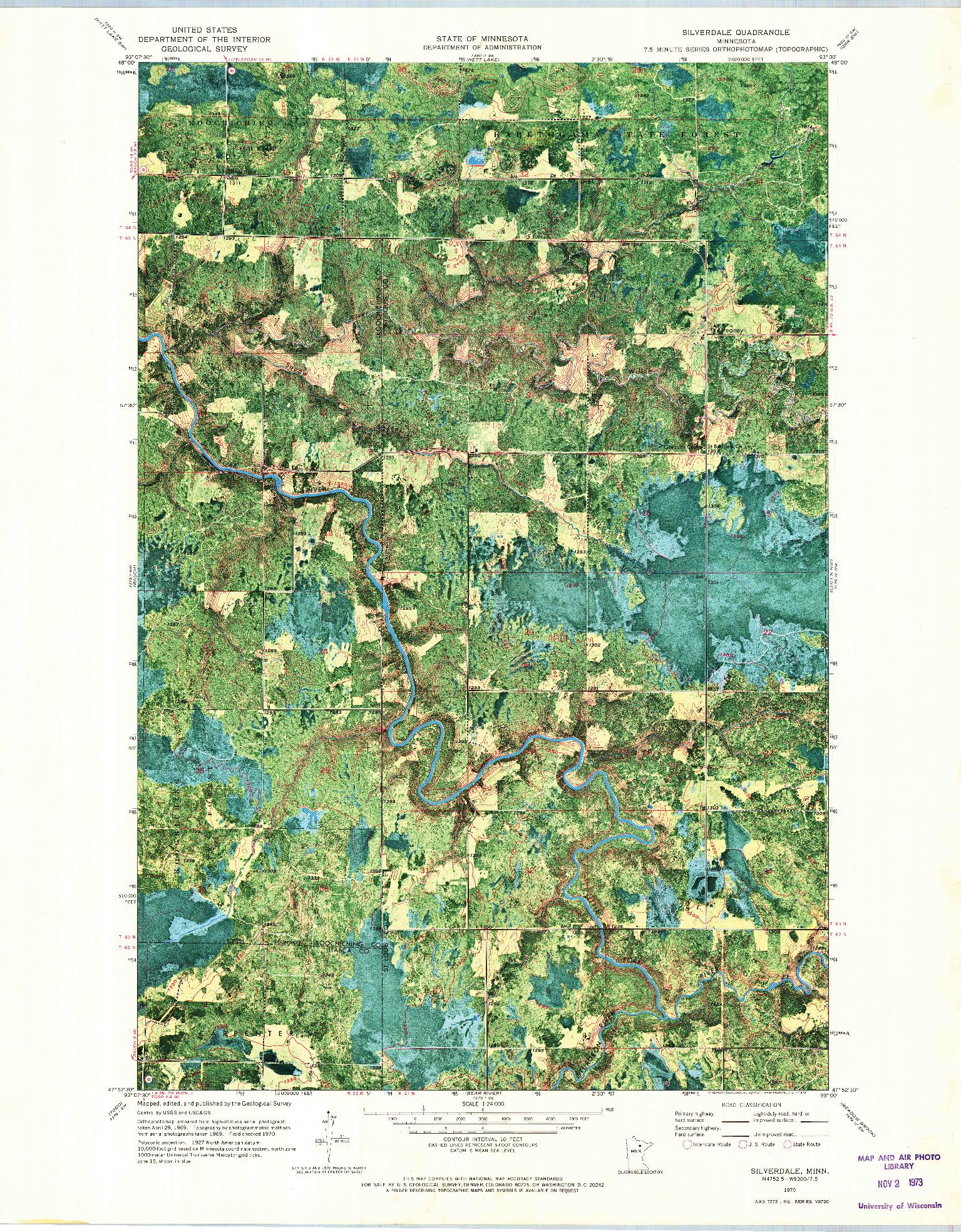 USGS 1:24000-SCALE QUADRANGLE FOR SILVERDALE, MN 1970