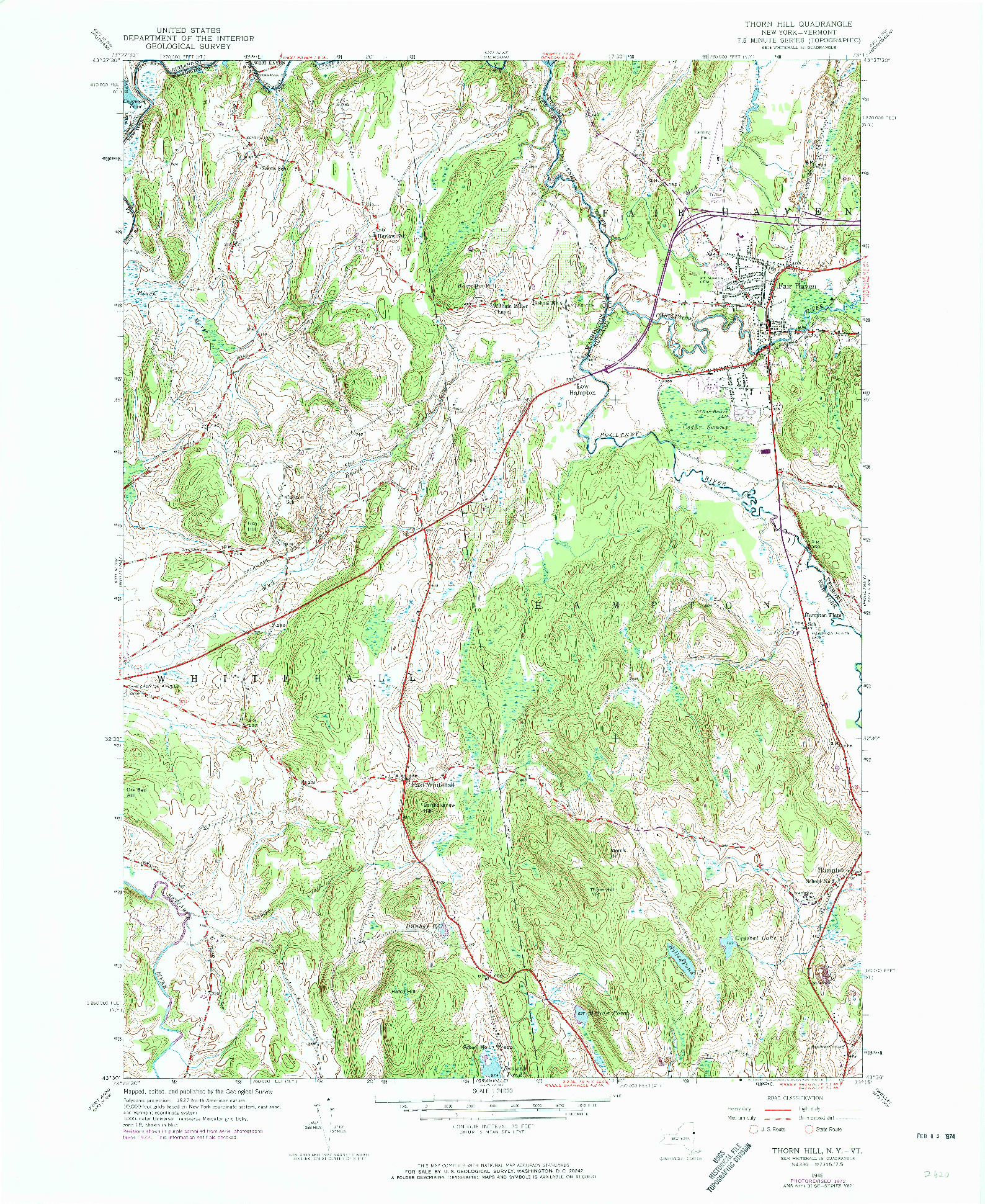 USGS 1:24000-SCALE QUADRANGLE FOR THORN HILL, NY 1946