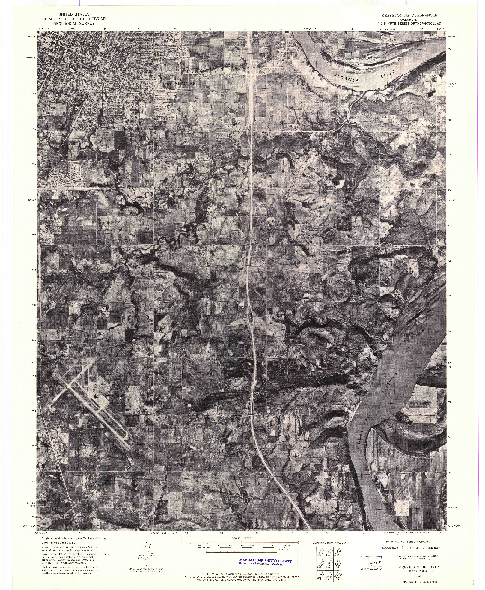 USGS 1:24000-SCALE QUADRANGLE FOR KEEFETON NE, OK 1972