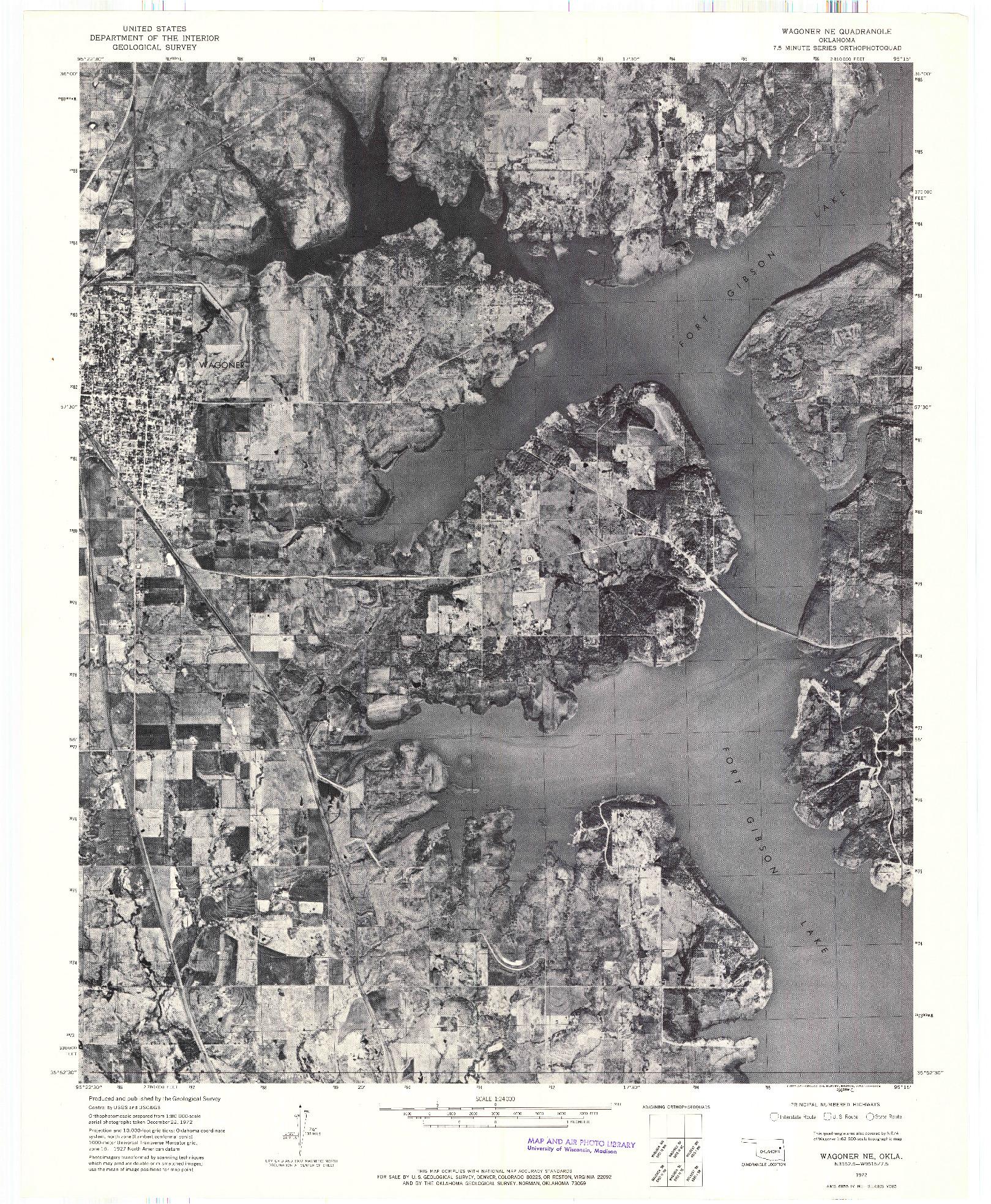 USGS 1:24000-SCALE QUADRANGLE FOR WAGONER NE, OK 1972