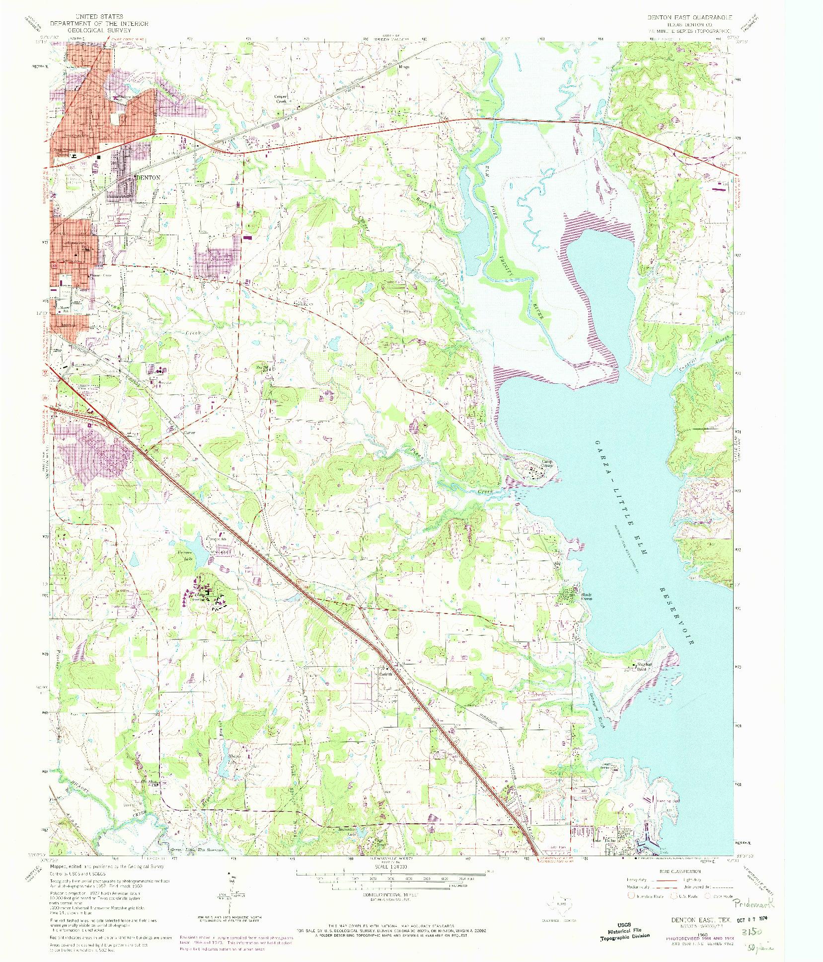 USGS 1:24000-SCALE QUADRANGLE FOR DENTON EAST, TX 1960