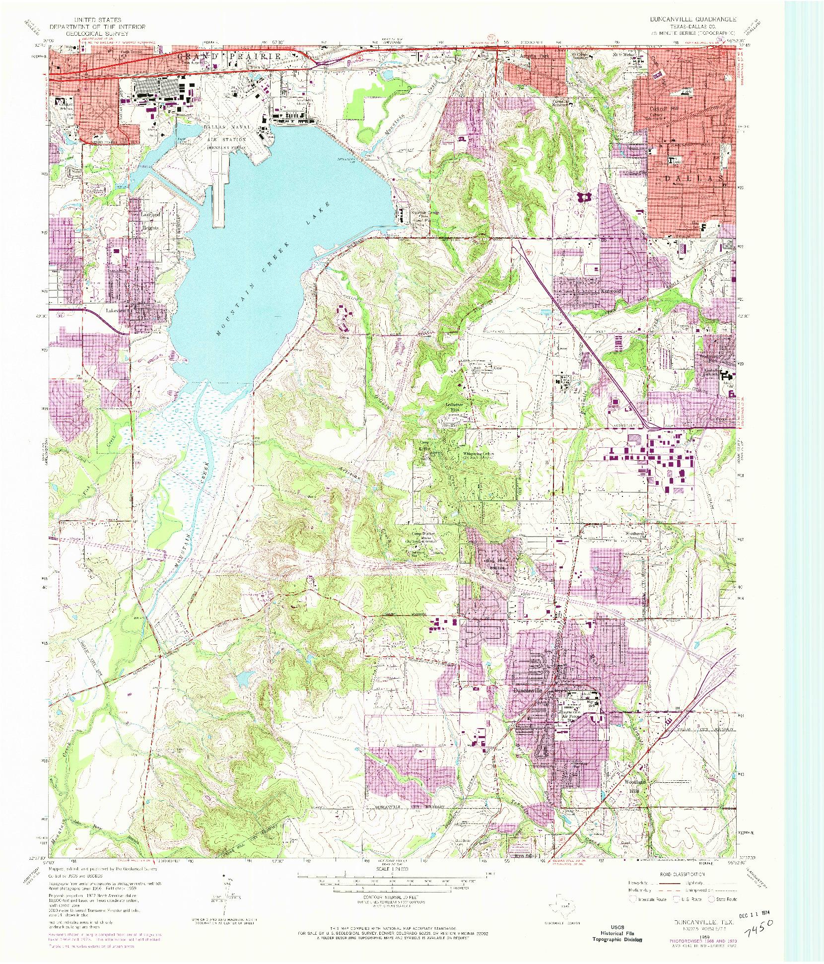 USGS 1:24000-SCALE QUADRANGLE FOR DUNCANVILLE, TX 1959