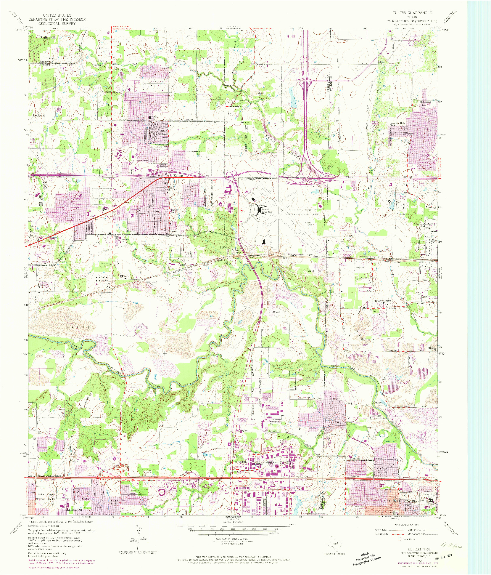 USGS 1:24000-SCALE QUADRANGLE FOR EULESS, TX 1959