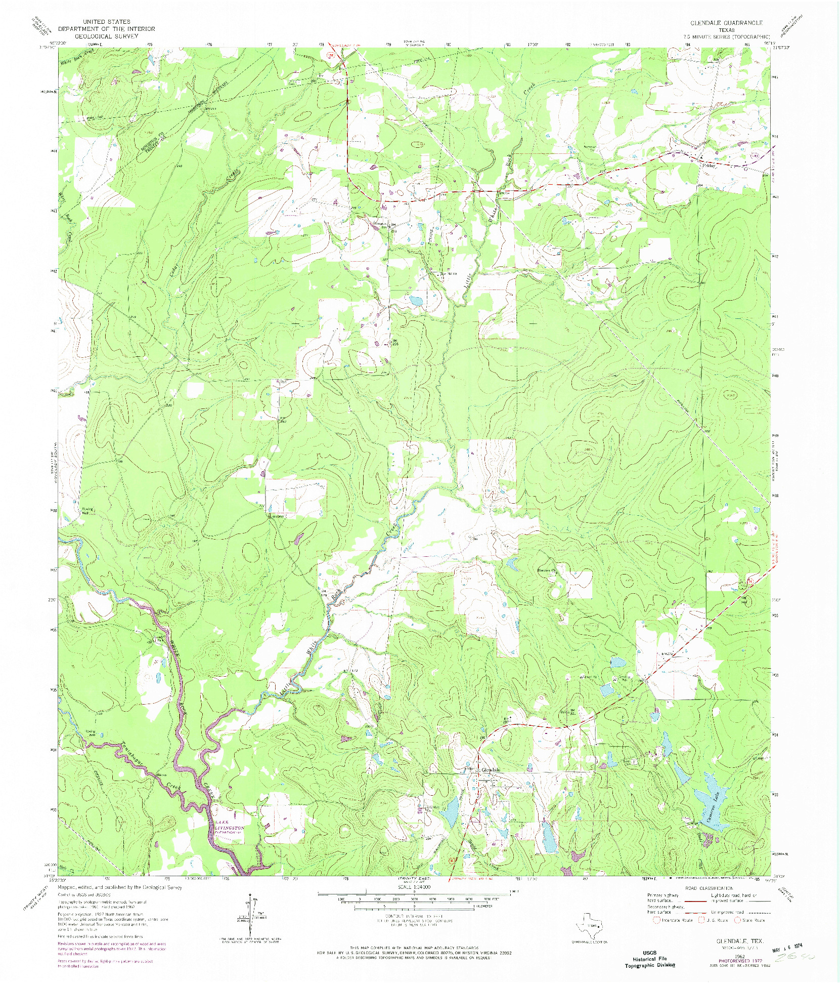 USGS 1:24000-SCALE QUADRANGLE FOR GLENDALE, TX 1962