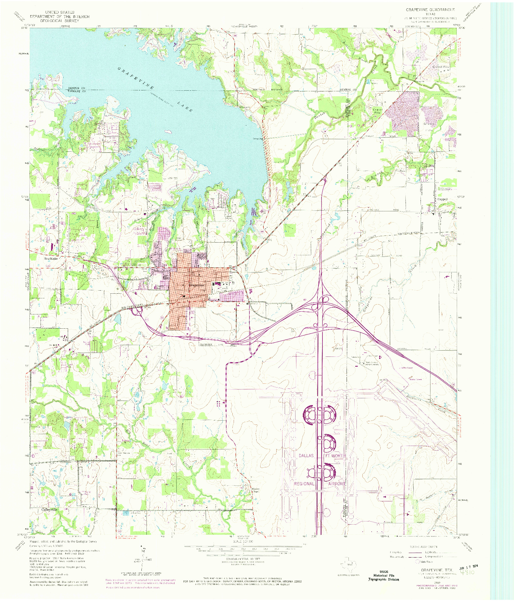 USGS 1:24000-SCALE QUADRANGLE FOR GRAPEVINE, TX 1959