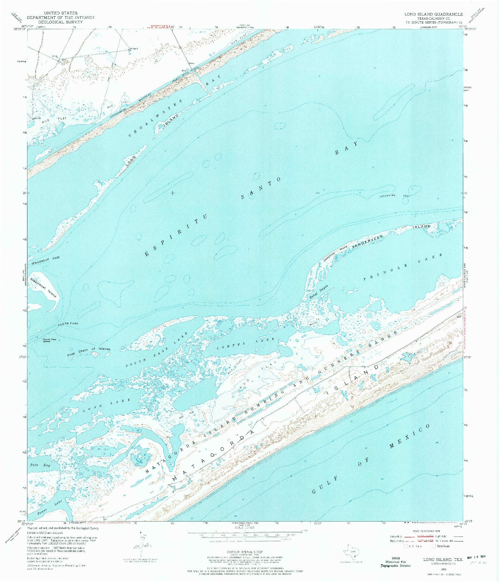USGS 1:24000-SCALE QUADRANGLE FOR LONG ISLAND, TX 1952