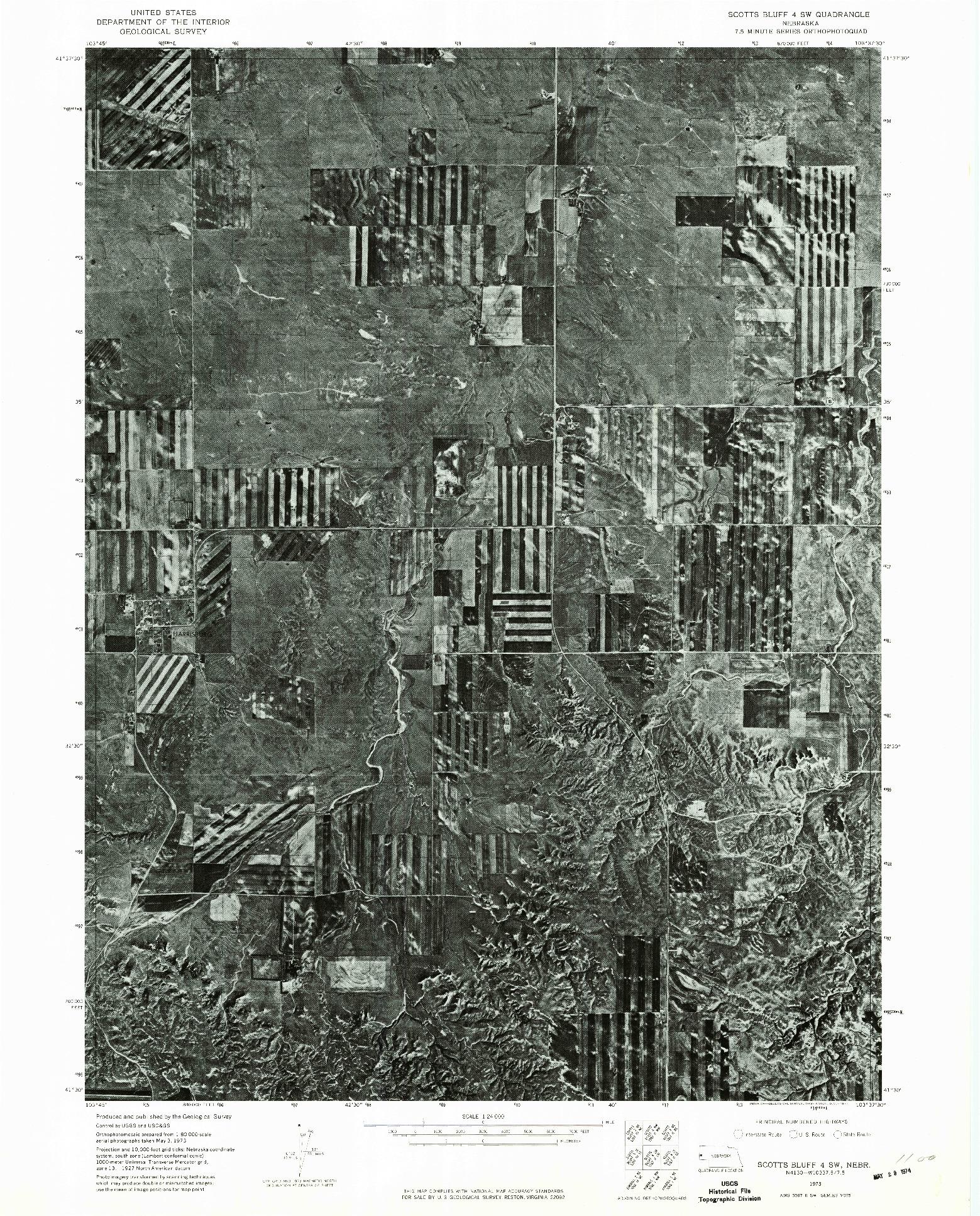 USGS 1:24000-SCALE QUADRANGLE FOR SCOTTS BLUFF 4 SW, NE 1973