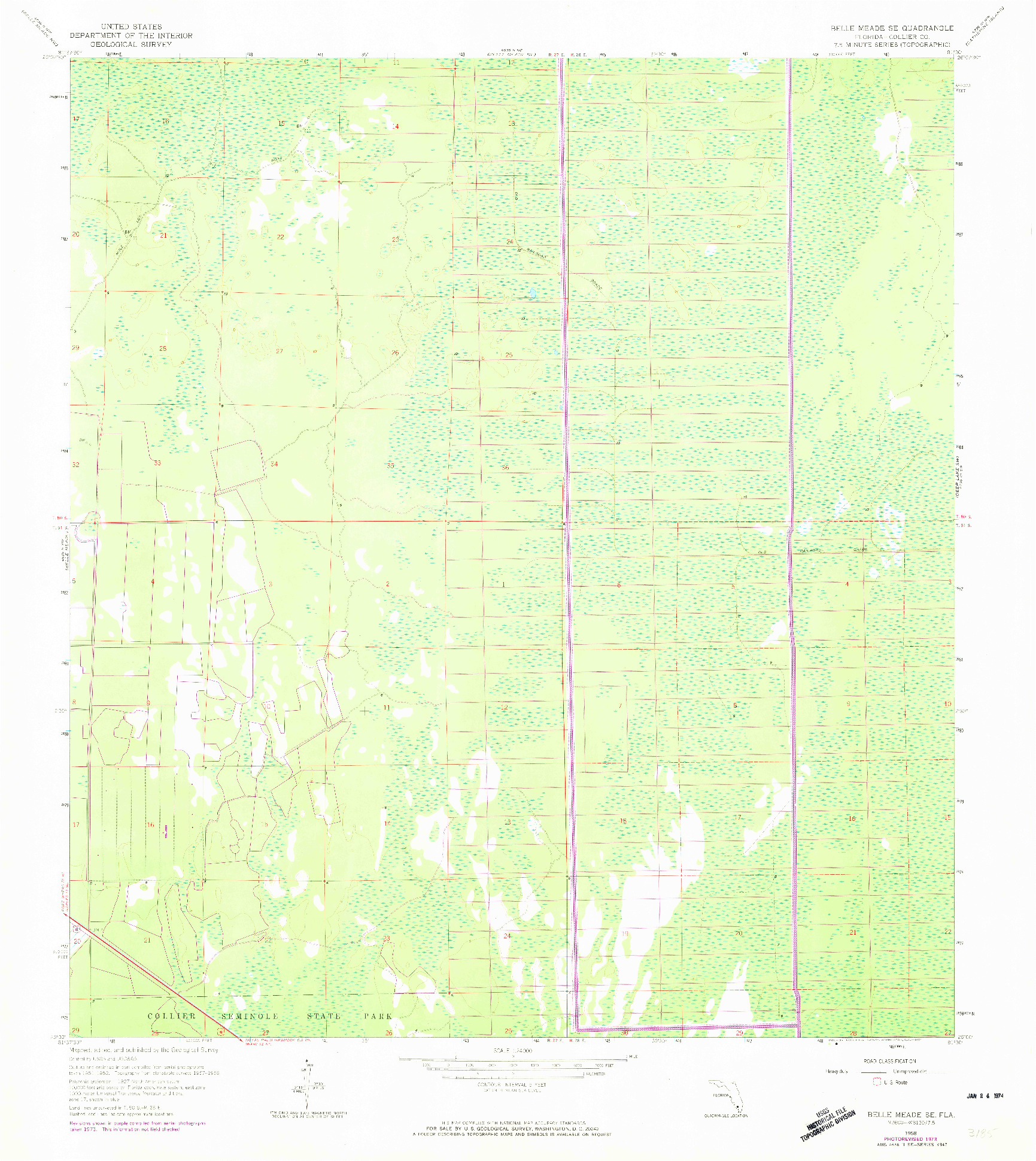 USGS 1:24000-SCALE QUADRANGLE FOR BELLE MEADE SE, FL 1958