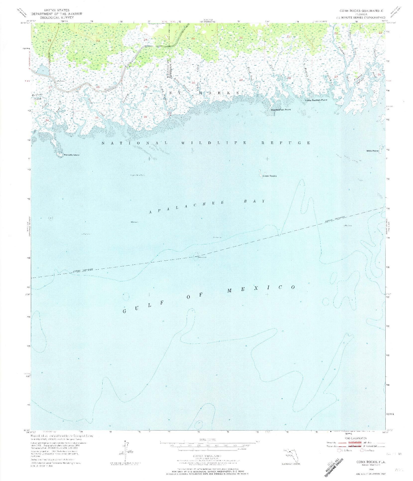 USGS 1:24000-SCALE QUADRANGLE FOR COBB ROCKS, FL 1954