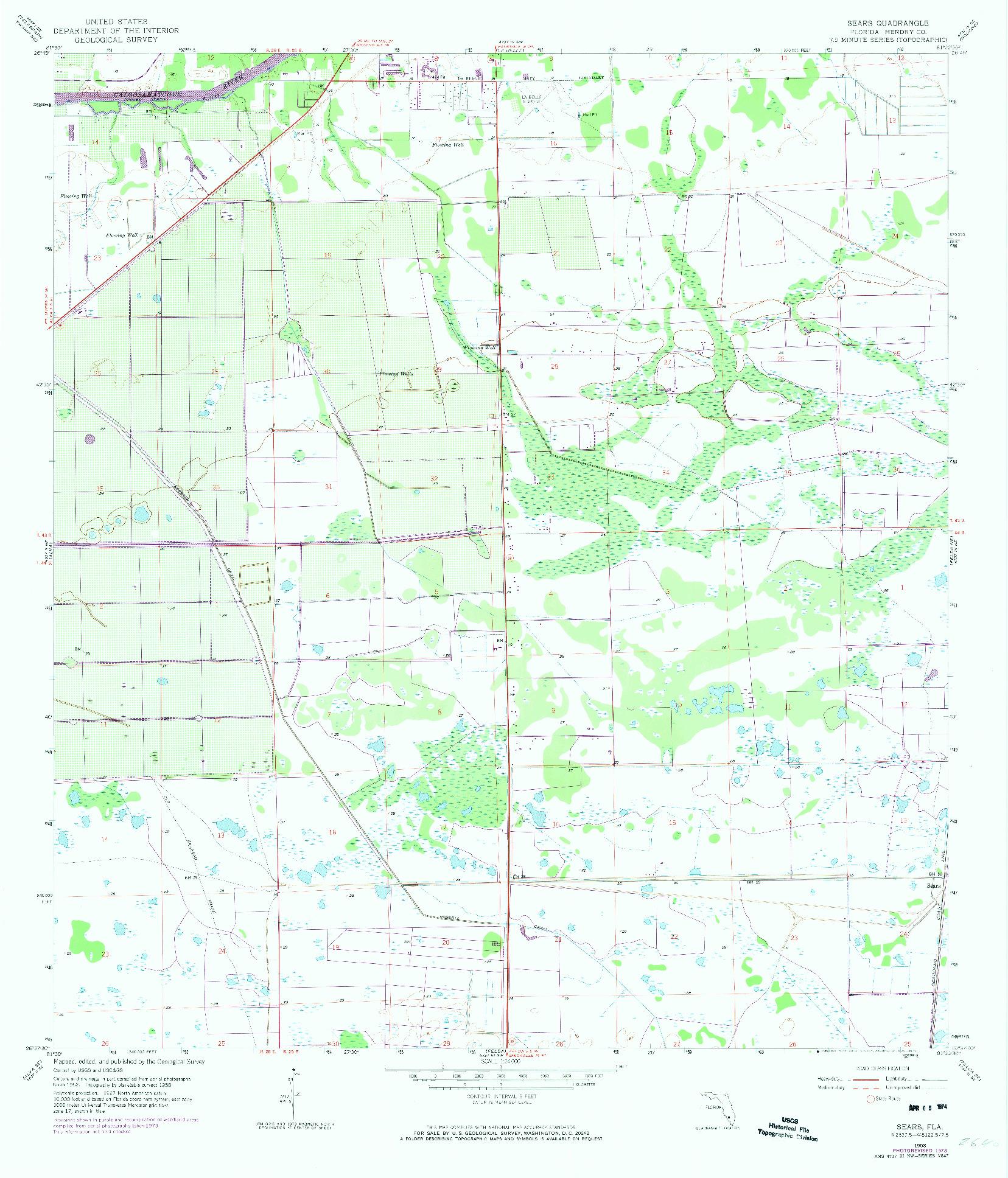 USGS 1:24000-SCALE QUADRANGLE FOR SEARS, FL 1958