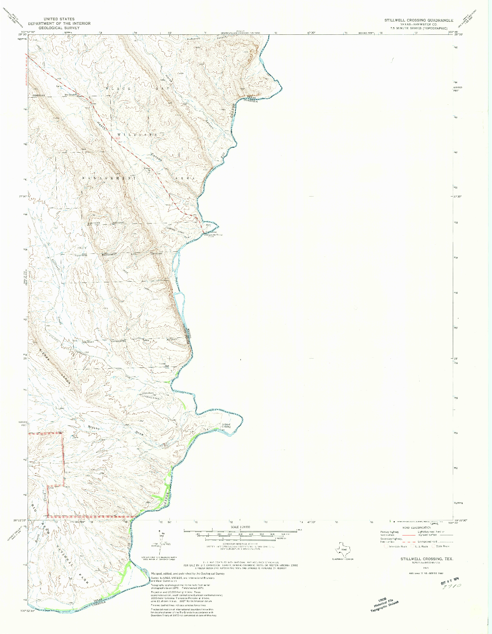 USGS 1:24000-SCALE QUADRANGLE FOR STILLWELL CROSSING, TX 1971