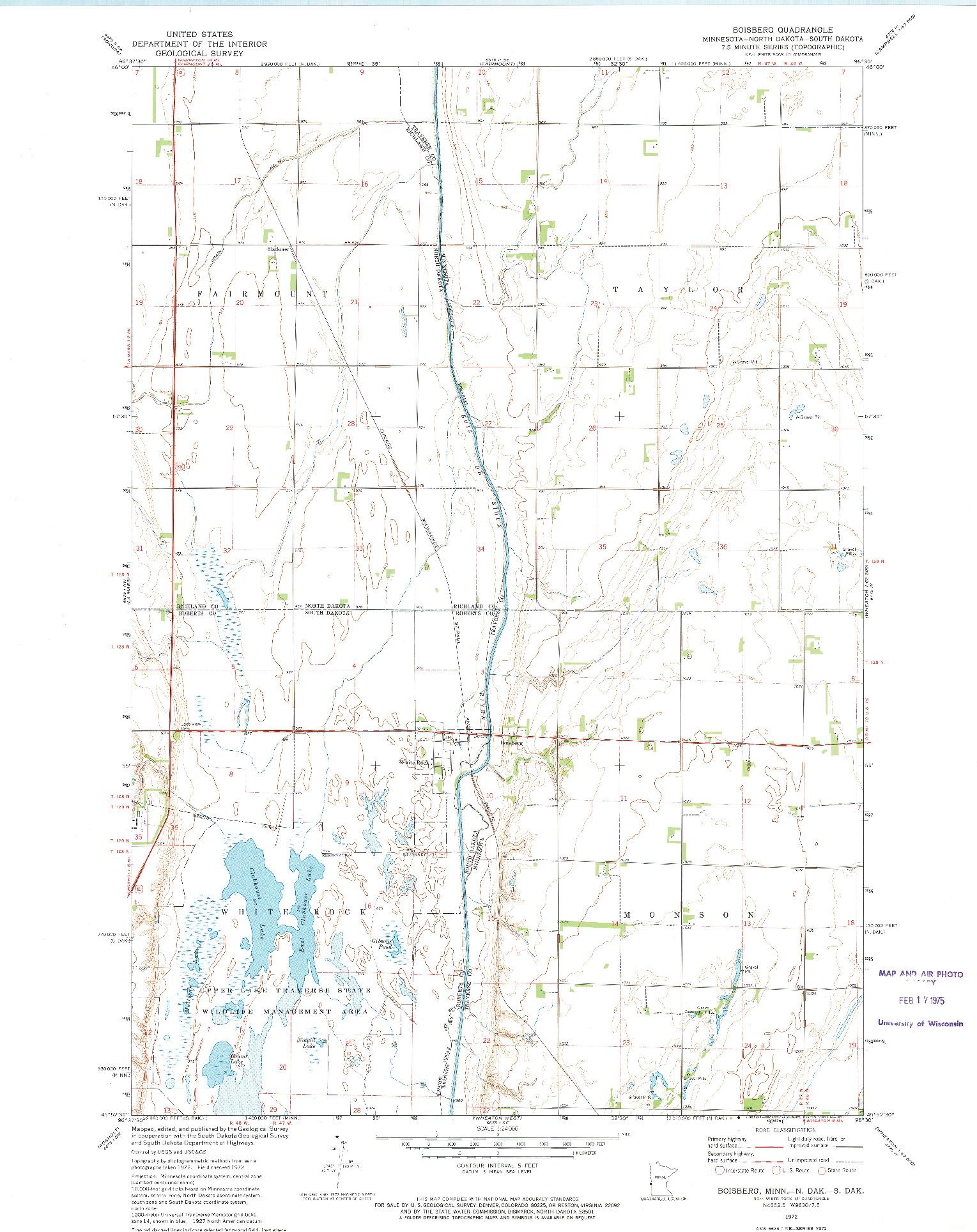 USGS 1:24000-SCALE QUADRANGLE FOR BOISBERG, MN 1972