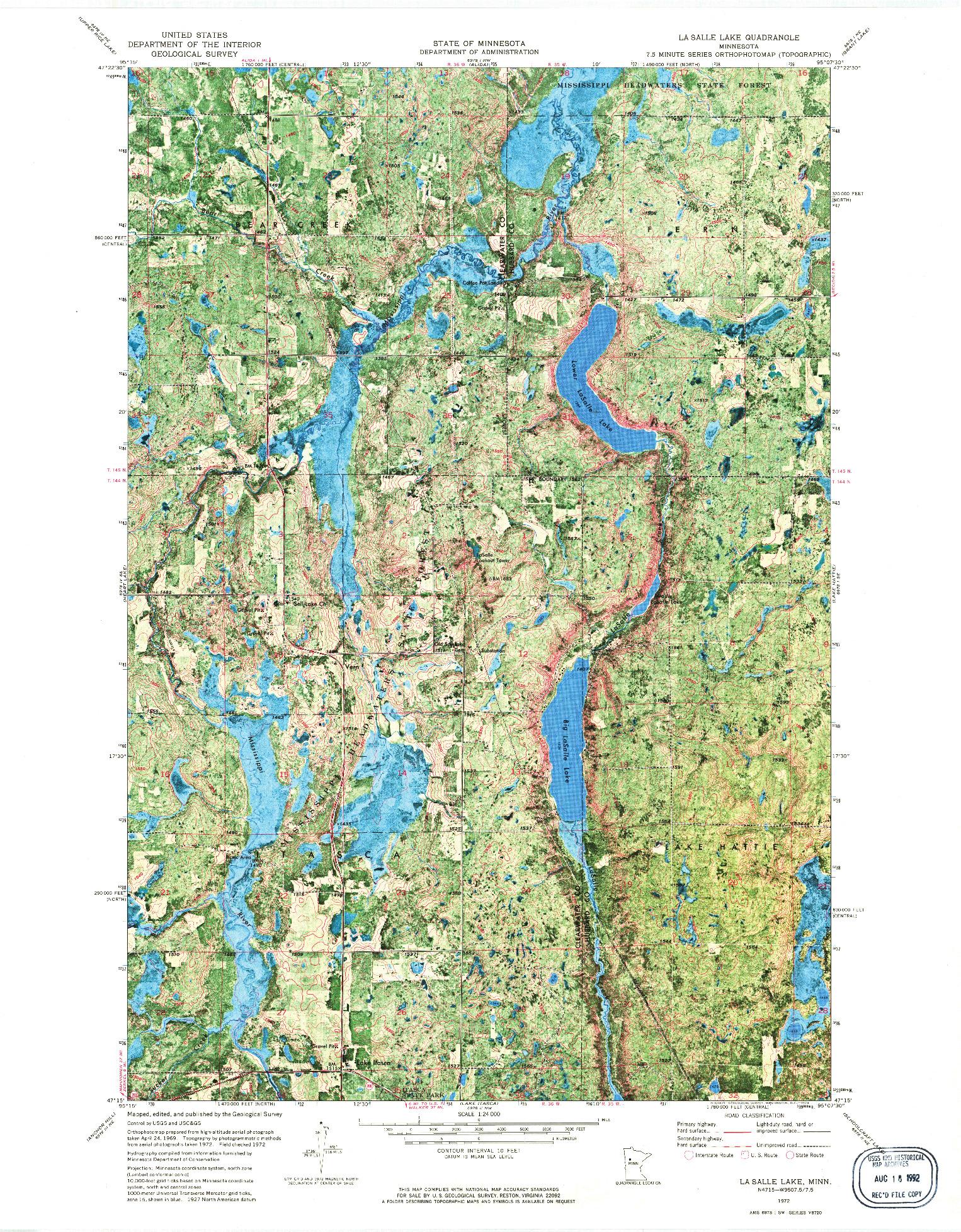 USGS 1:24000-SCALE QUADRANGLE FOR LA SALLE LAKE, MN 1972