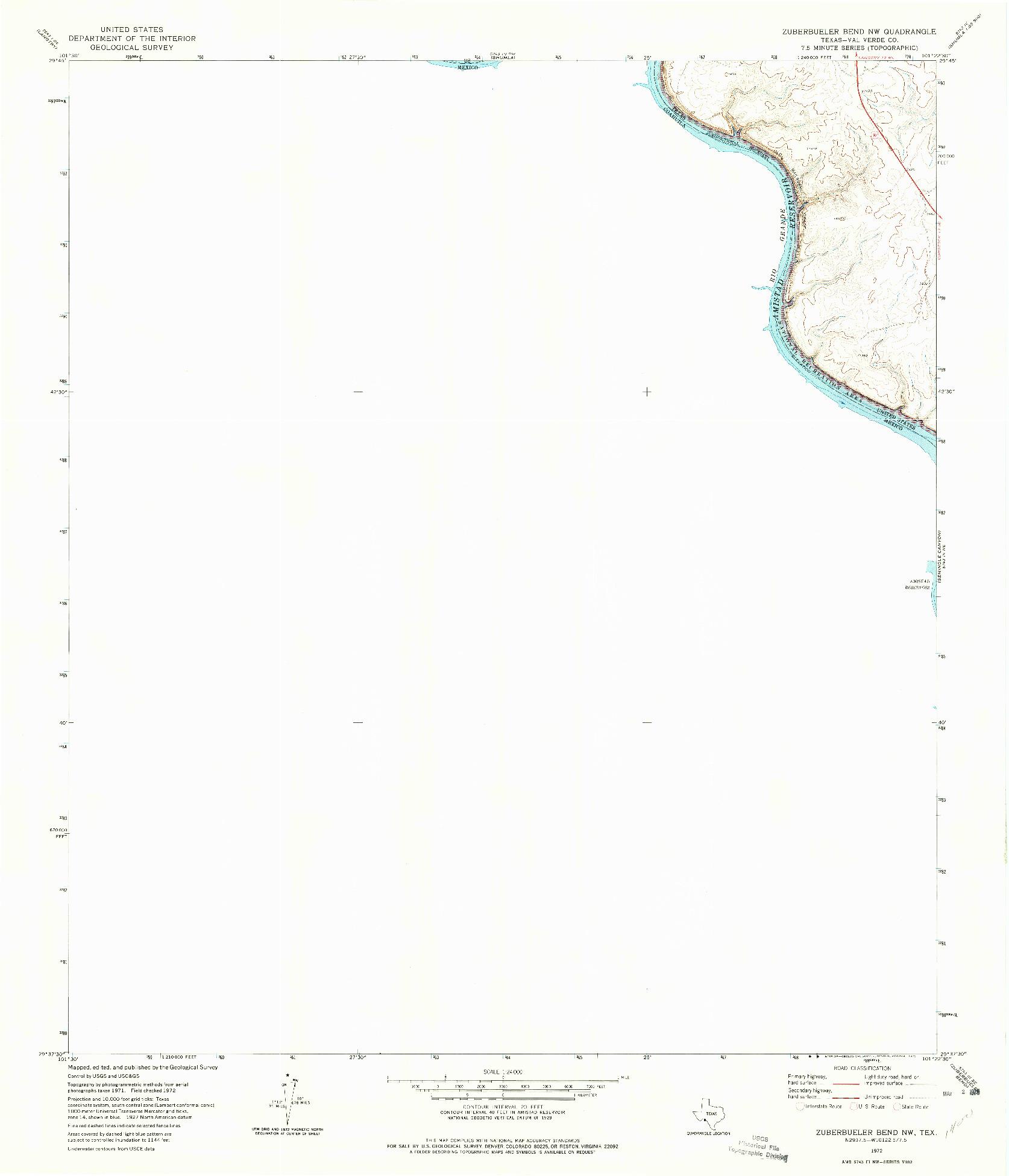 USGS 1:24000-SCALE QUADRANGLE FOR ZUBERBUELER BEND NW, TX 1972