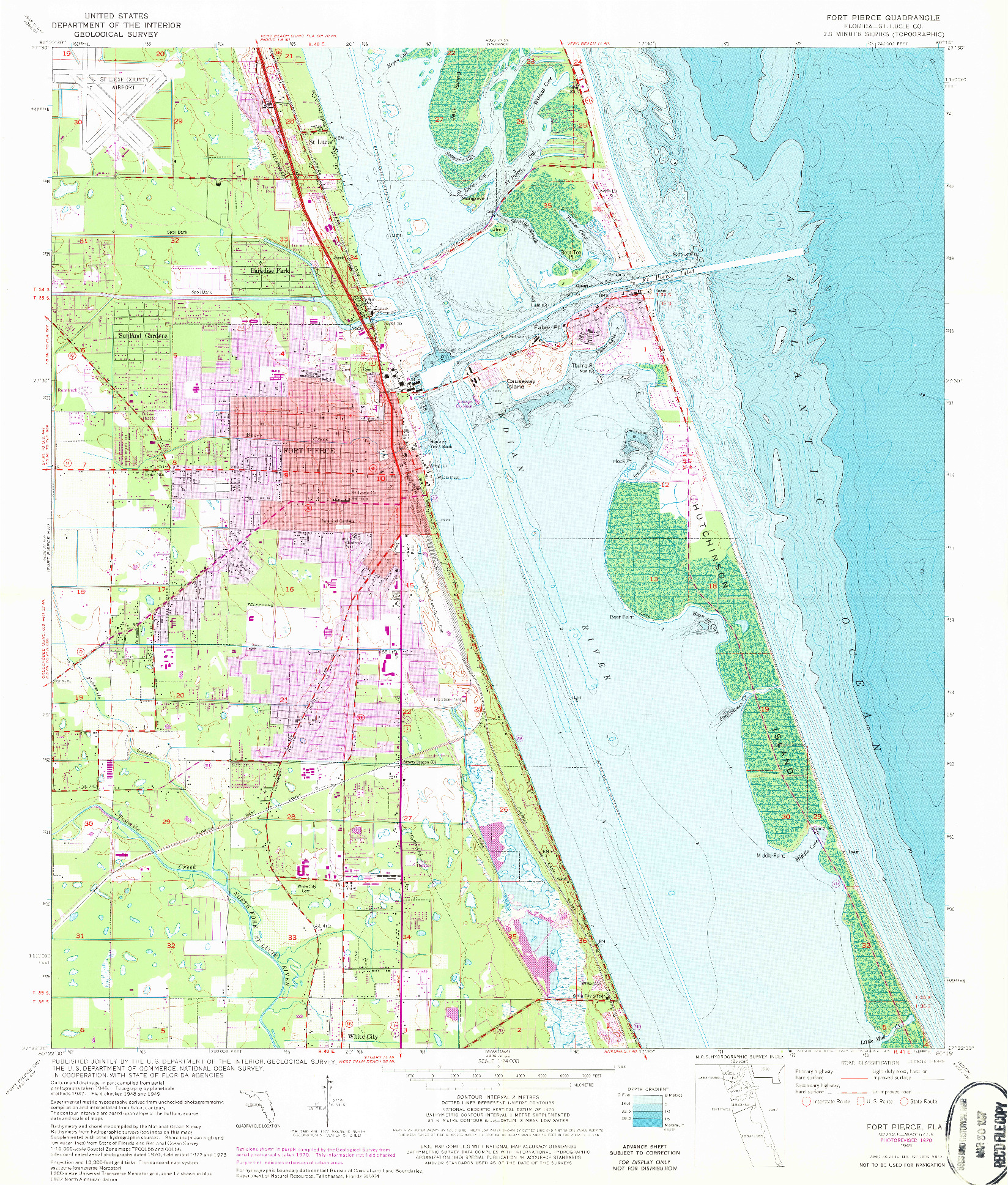 USGS 1:24000-SCALE QUADRANGLE FOR FORT PIERCE, FL 1949