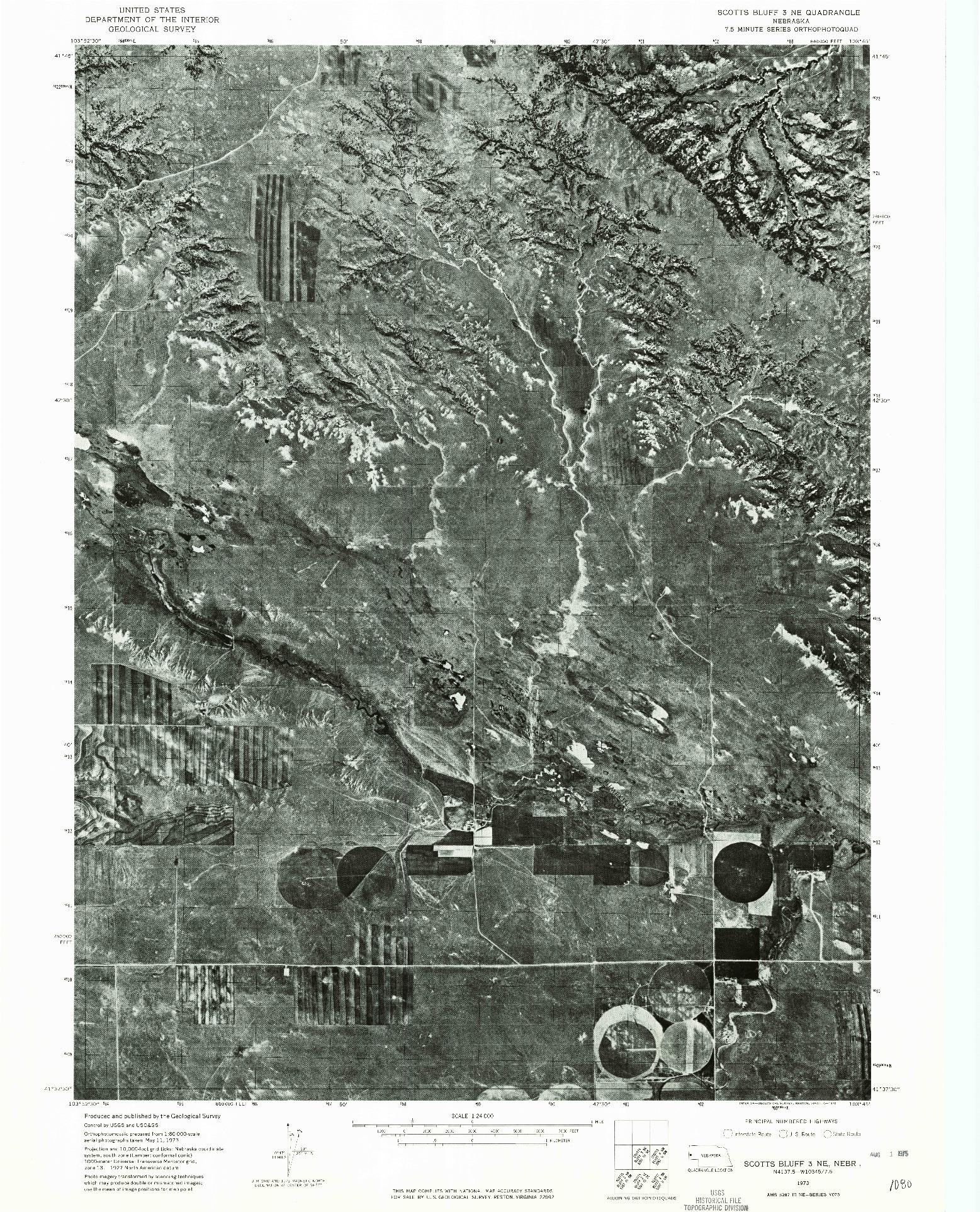 USGS 1:24000-SCALE QUADRANGLE FOR SCOTTS BLUFF 3 NE, NE 1973