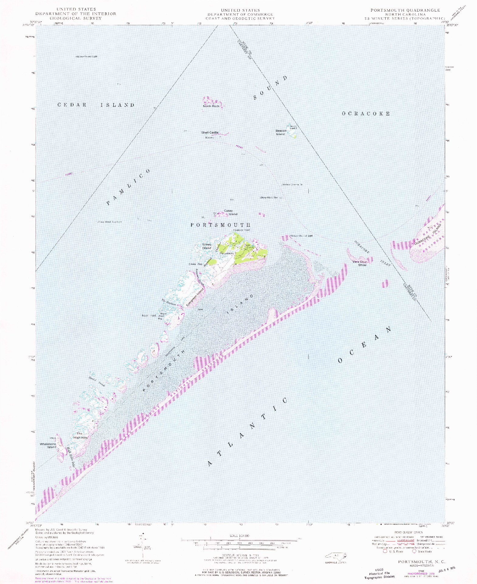 USGS 1:24000-SCALE QUADRANGLE FOR PORTSMOUTH, NC 1948