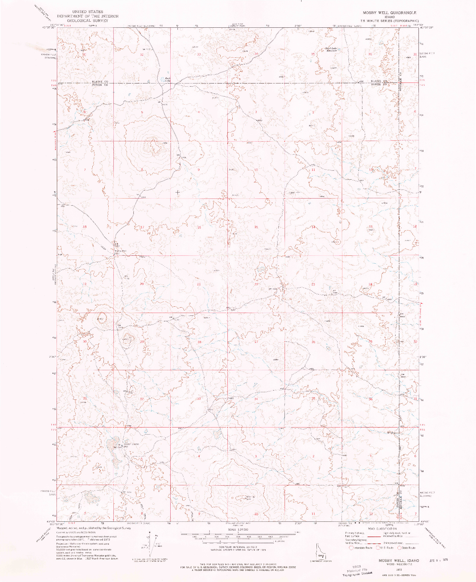 USGS 1:24000-SCALE QUADRANGLE FOR MOSBY WELL, ID 1972