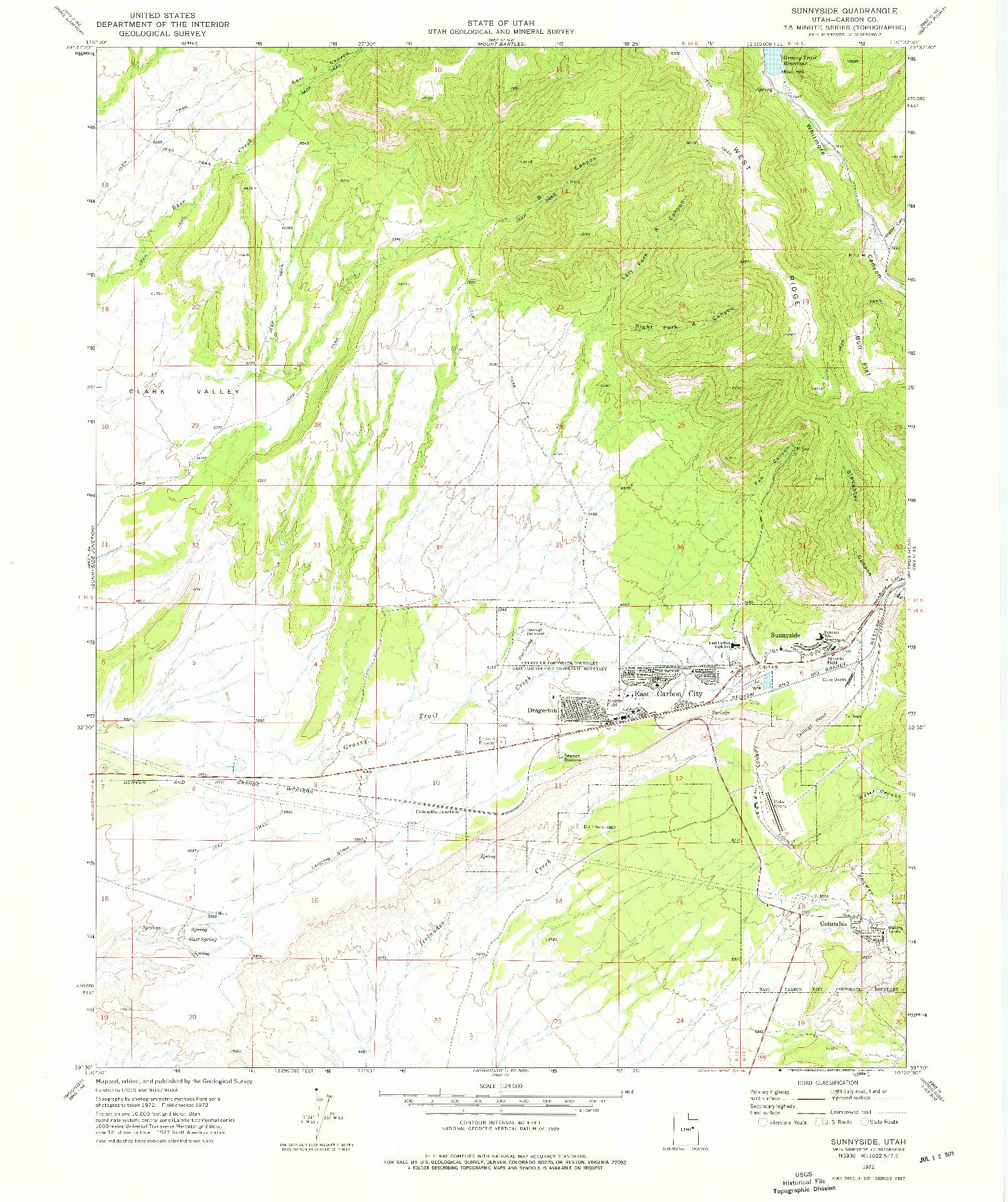 USGS 1:24000-SCALE QUADRANGLE FOR SUMMIT, UT 1972