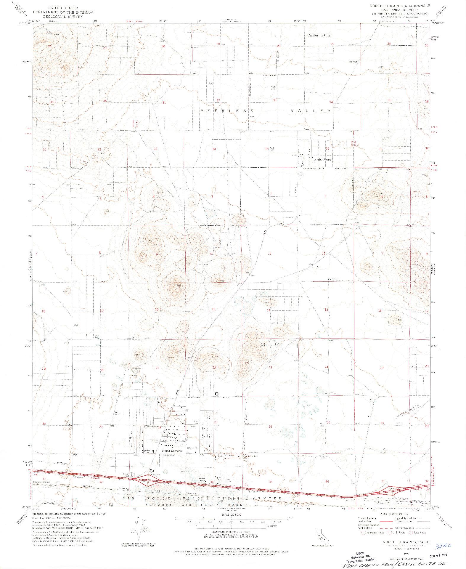 USGS 1:24000-SCALE QUADRANGLE FOR NORTH EDWARDS, CA 1973