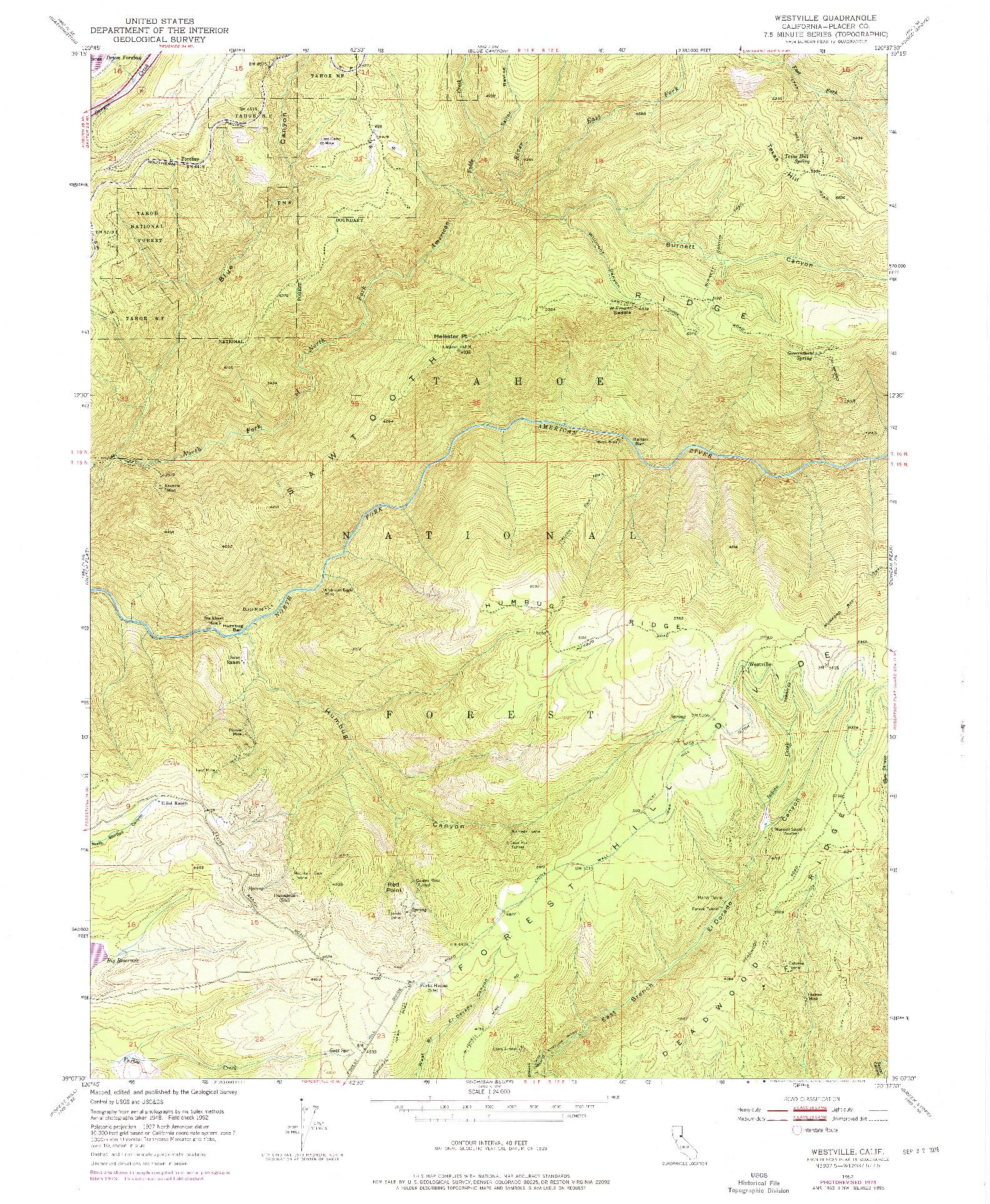 USGS 1:24000-SCALE QUADRANGLE FOR WESTVILLE, CA 1952