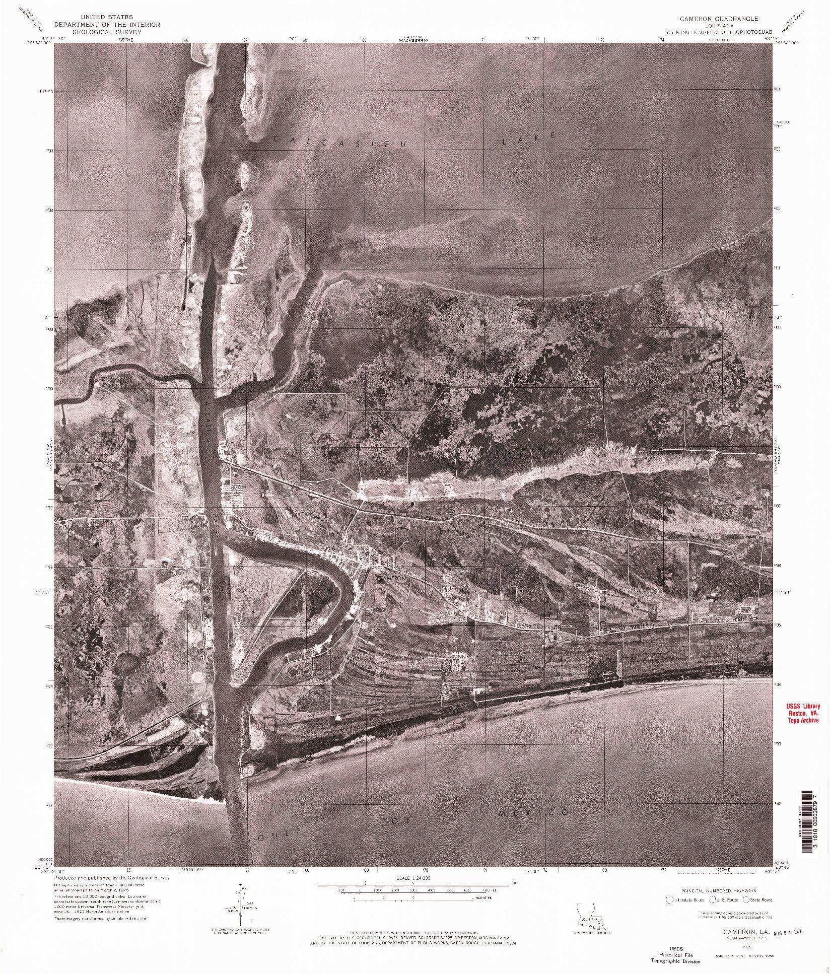 USGS 1:24000-SCALE QUADRANGLE FOR CAMERON, LA 1960