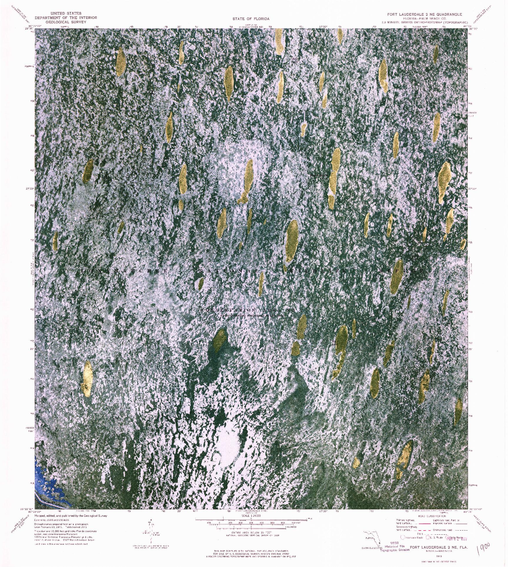 USGS 1:24000-SCALE QUADRANGLE FOR FORT LAUDERDALE 2 NE, FL 1973