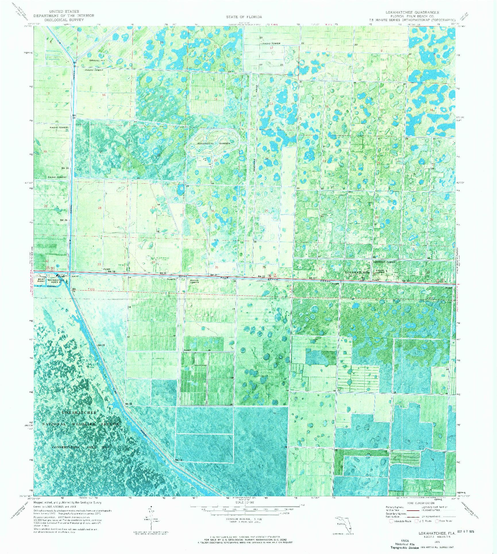 USGS 1:24000-SCALE QUADRANGLE FOR LOXAHATCHEE, FL 1971