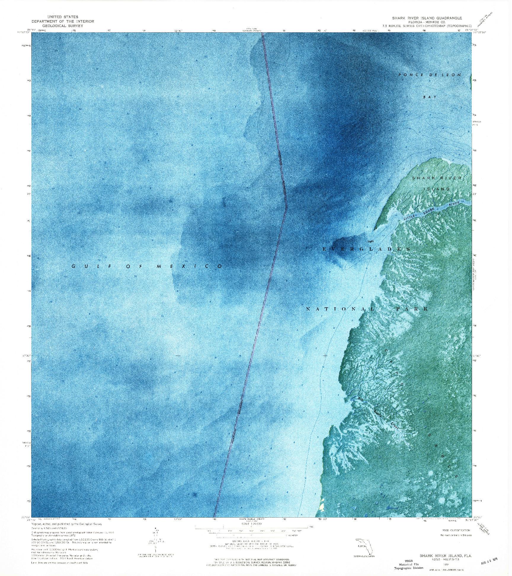USGS 1:24000-SCALE QUADRANGLE FOR SHARK RIVER ISLAND, FL 1972