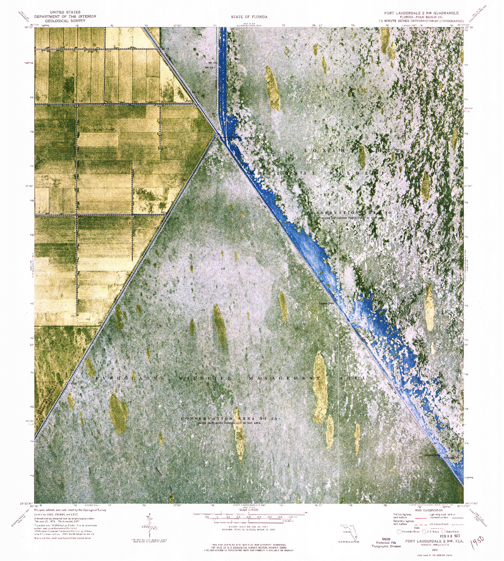 USGS 1:24000-SCALE QUADRANGLE FOR FORT LAUDERDALE 2 NW, FL 1974
