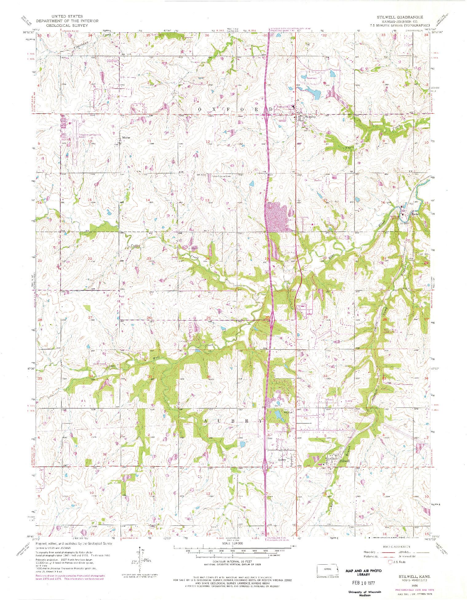 USGS 1:24000-SCALE QUADRANGLE FOR STILWELL, KS 1956