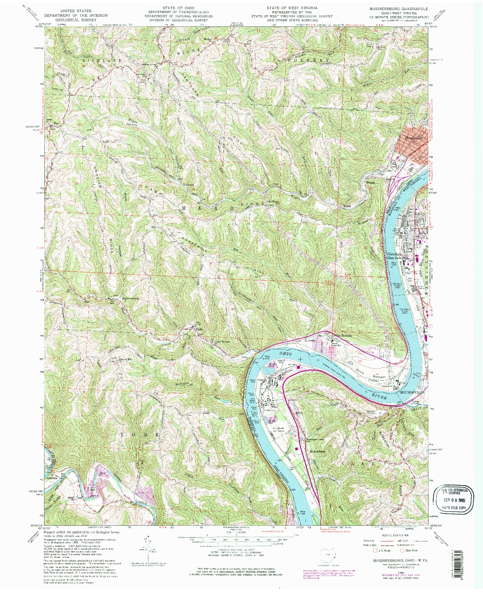 USGS 1:24000-SCALE QUADRANGLE FOR BUSINESSBURG, OH 1960